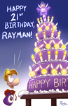 Rayman's 21st (belated) by EarthGwee