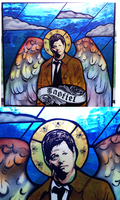 Stained Glass Castiel by tripperfunster