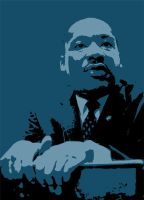 Martin Luther King, Jr. by cxard