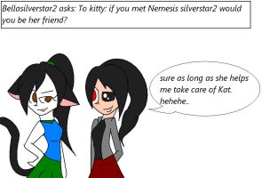 Question #134 kitty meets another? by yoshiyoshi700