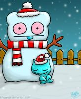 The Ugly Snowman by kryzenge