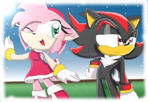 Amy n Shadow by FoxySerriaAngel