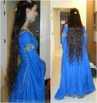 Luthien cosplay at the 2014 EstelCon - hair III by ArwendeLuhtiene