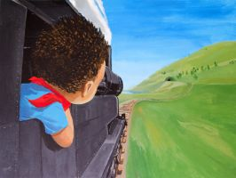 The Kid and the Train by johnrholmes