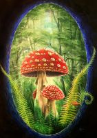 Club Muscaria Painting by BCcreativity