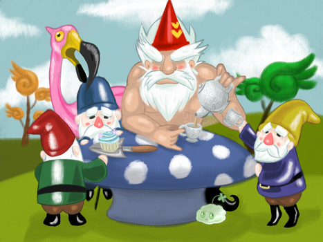 Mushroom Tea Party by duskofthederps