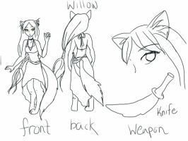 Willow OC-outline by tedres