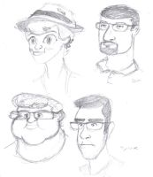 Caricatures Aug pt 2 by jimferno