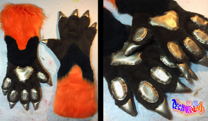 Fox Elbow Length Fursuit Handpaws by TECHNlCOLOUR
