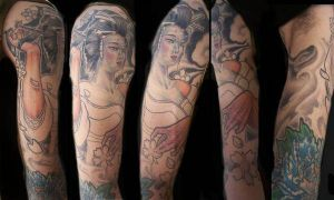 geisha tattoo by tattooneos