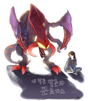 My little Talon and big Cho'gath by 12ho