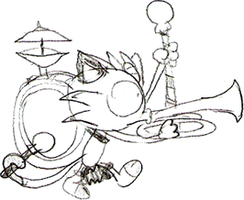 Doodle: One Meowth Band by LimeTH