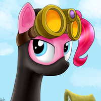 Above the crystal Empire by Dragonfoorm