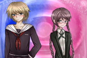 Togami and Fukawa changed clothes. by Rozala