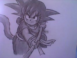 Kid Goku by GrandDibu