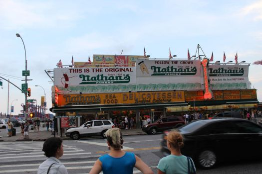 Nathan's Hotdogs by A-Harlequin-Creation