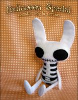 Halloween - Skeleton Bunny by BibelotForest