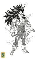 VEGETA ssj4 ascended 2 by bloodsplach