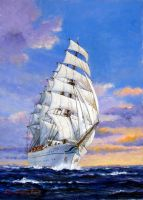 Sailing Ship Nipponmaru by temma22
