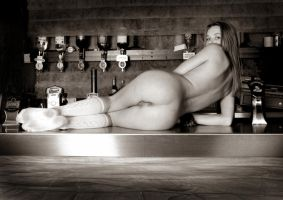 naked schoolgirl 16 b and w by Spot25