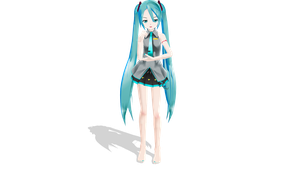 Trying to make my own style of LAT Miku by MMDAnimatio357