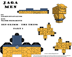Ben Grimm|The Thing Cubeecraft Part 1 by JagaMen