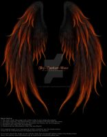 Winged Fantasy V2 - Phoenix Fire PNG PSD by Thy-Darkest-Hour