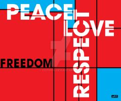 Peace Love Respect Freedom by piotr554
