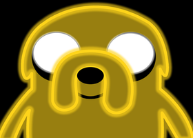Jake the Dog Neon by Ellittest