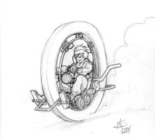 Monocycle by Inkthinker