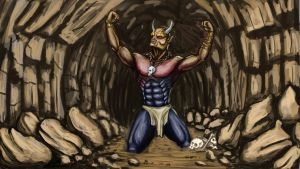 Devil in cave by JOVictory