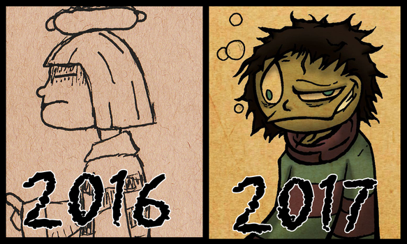 Frisk's Design One Year Later by TheComicGuys