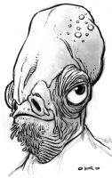 Ackbar Sketch by Kennon9