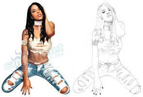 Aaliyah commission by jocachi