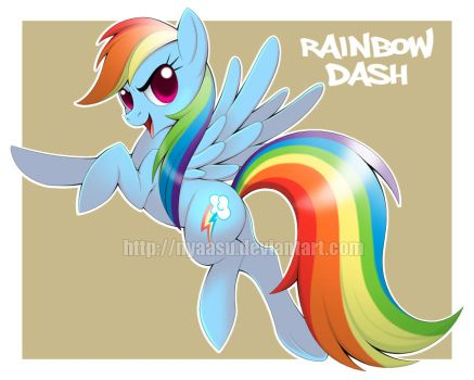 Rainbow Dash by Nyaasu