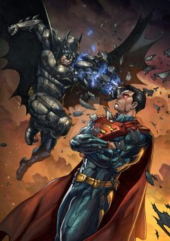 Batman v Superman by arf