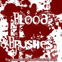 Blood Brushes by JaneDoeStock