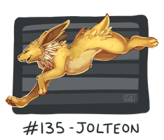 135 - Jolteon by Electrical-Socket