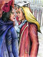 Lucius and Snape: Venice by ElenaTria