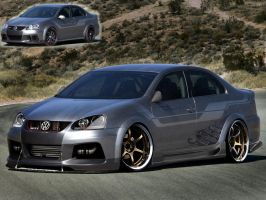 vw Jetta with original by Brittegil