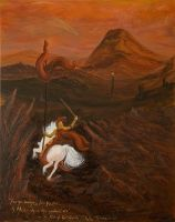 Gil-Galad Rides into Mordor by Luthianna