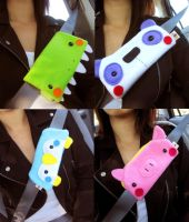 More Seatbelt Covers by casscc