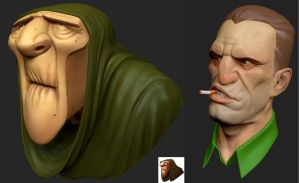 Zbrush Head Sculpts by Grimnor