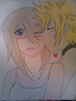 Xiana and Roxas by xXNobodiesTearsXx