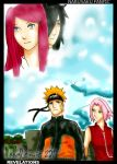 narusaku fanfic cover by noodlemie