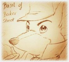 Test drawing Basil realistic eyes by doraemonbasil
