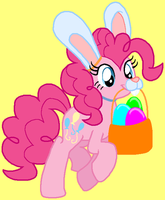 Pinkie Bunny!! by HeartinaThePony