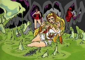 She-Ra Slimed! by fischgeist