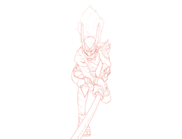 Blood Moon Yasuo character sketch by Scheve94