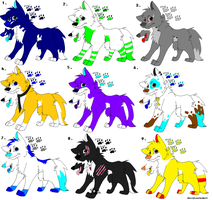 Wolf adopts Set 1 by Obsidianthewolf